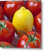 Lemon And Tomatoes Metal Print