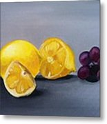 Lemons And Grapes Metal Print