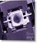 Lens Of A Cd Player Metal Print