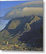 Lenticular Cloud Over Table Mountain Metal Print