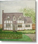 Leominster Cottage Metal Print