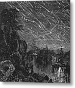Leonid Meteor Shower, 1833 Metal Print by Granger