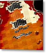 Classic Guitar Abstract Metal Print
