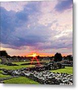 Lesnes Abbey Ruins Sunset Metal Print