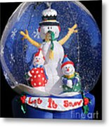 Let It Snow Metal Print by Christine Till