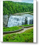 Letchworth Upper Falls Metal Print
