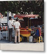 Lets Do Lunch Mexico Series By Tom Ray Metal Print