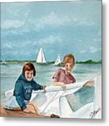 Let's Go Sailing  Metal Print