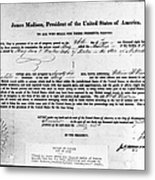 Letter Of Marque, 1812 Metal Print