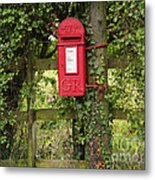 Letterbox In A Hedge Metal Print