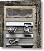 Letterbox With Old Newspapers Metal Print by Matthias Hauser