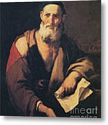 Leucippus, Ancient Greek Philosopher Metal Print