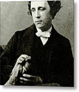 Lewis Carroll, English Author Metal Print by Photo Researchers