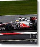 Lewis Hamilton Silverstone 2011 Metal Print