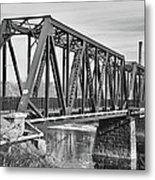 Lewiston-auburn Railroad Bridge Metal Print