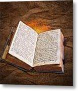 Liber Scientiae The Book Of Knowledge Metal Print