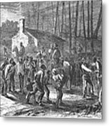 Liberating Slaves, 1864 Metal Print