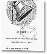 Liberty Bell, 1839 Metal Print