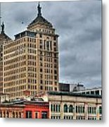 Liberty Building And Hotel Lafayette Metal Print