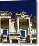 Library Of Celsus In Ephesus Metal Print