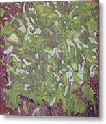 Lichen On Tree Bark-ppml0014 Metal Print