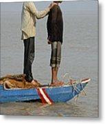 Life On Lake Tonle Sap 4 Metal Print