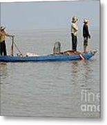 Life On Lake Tonle Sap 5 Metal Print