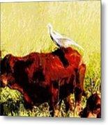Life On The Farm V4 Metal Print