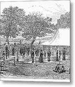 Life-sized Chess, 1882 Metal Print