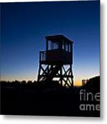Lifeguard Stand At Dawn Metal Print