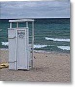 Lifeguard Station At The Beach Metal Print