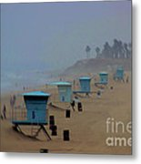 Lifeguard Stations Metal Print