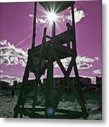 Lifeguard Tower II Metal Print