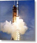 Liftoff Of The Saturn Ib Launch Vehicle Metal Print