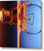 Light Bulb Shot Into Water Metal Print