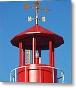 Light House On Coney Island Metal Print