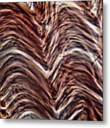Light Micrograph Of Smooth Muscle Tissue Metal Print