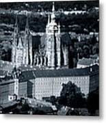 Light On The Cathedral Metal Print by Joan Carroll