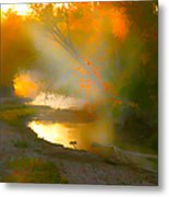 Light Up The Creek Metal Print