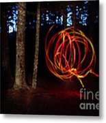 Light Writing In Woods Metal Print