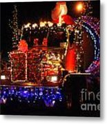Lighted Cement Truck Metal Print