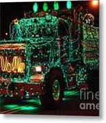 Lighted Green Dumptruck Metal Print