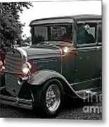 Lighted Old Black And White Metal Print