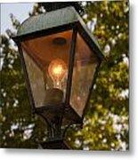 Lighted Street Lamppost Metal Print