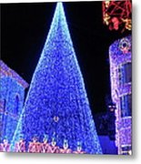 Lighted Xmas Tree Walt Disney World Metal Print
