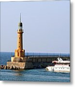 Lighthouse Along The Corniche Metal Print