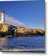 Lighthouse At Peggy's Cove Metal Print