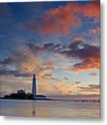 Lighthouse At Sunrise Metal Print