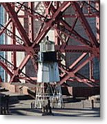 Lighthouse Atop Fort Point Next To The San Francisco Golden Gate Bridge - 5d18999 Metal Print by Wingsdomain Art and Photography