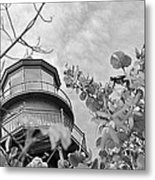 Lighthouse B And W Metal Print